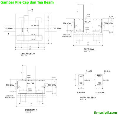 pile cap tea beam