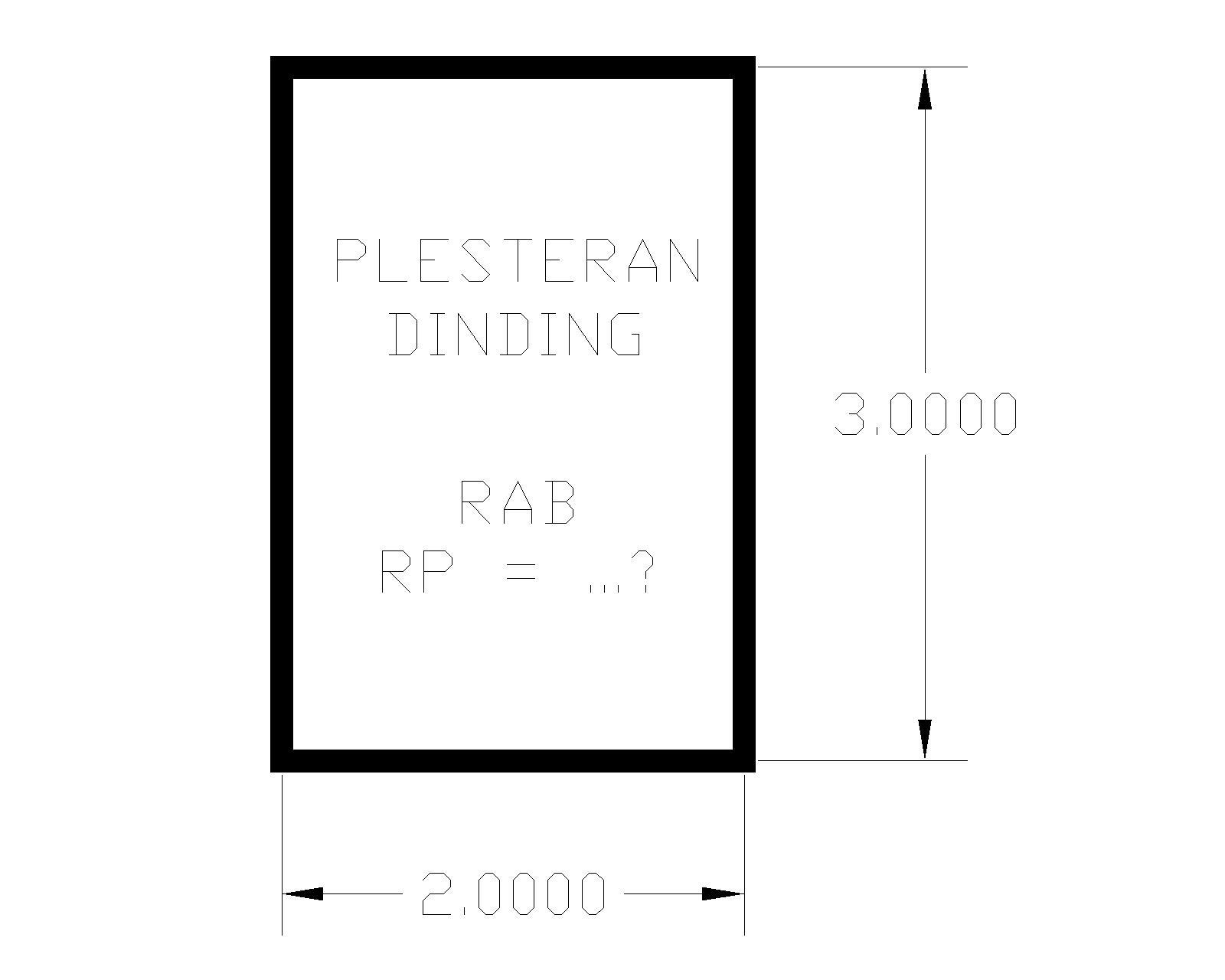 RAB PLESTERAN DINDING