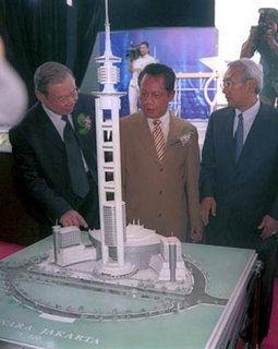 Indonesia  membangun menara tertinggi didunia
