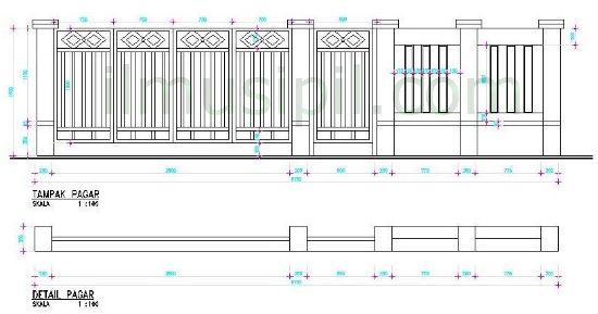 kita lihat sebuah contoh desain pagar rumah minimalis untuk rumah
