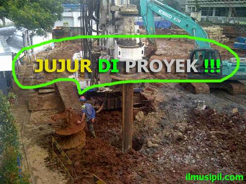Nasib orang jujur di proyek bangunan