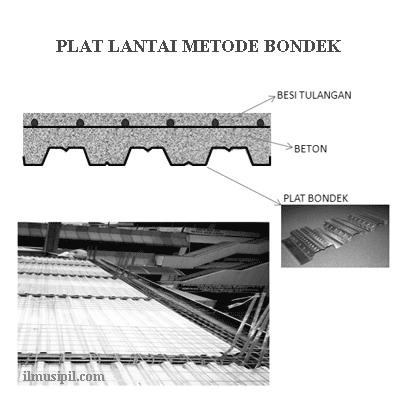 plat lantai metode bondek