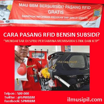 Untuk informasi lebih lanjut mengenai pemasangan kartu RFID bisa