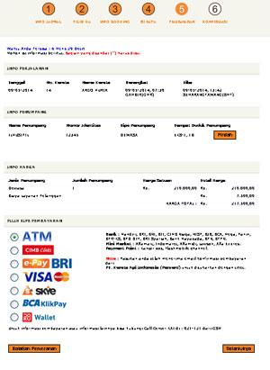 pemesanan tiket kereta api online