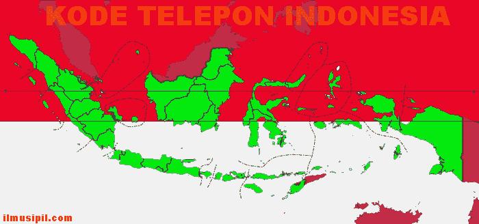 Daftar Kode area telepon di Indonesia