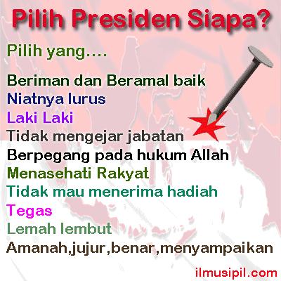 pilih presiden siapa