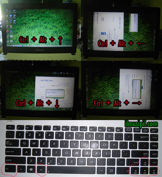 layar monitor komputer terbalik