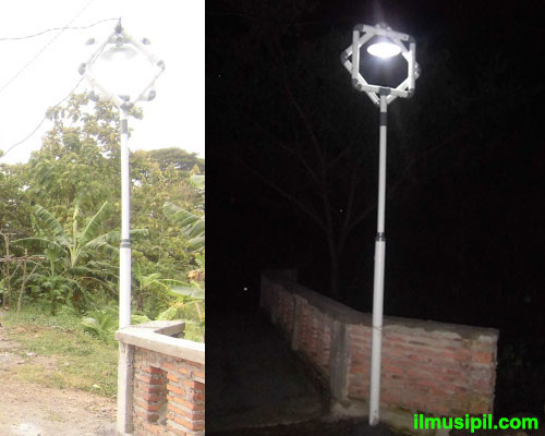 lampu jalan pipa pvc