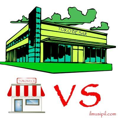 toko kecil vs toko besar