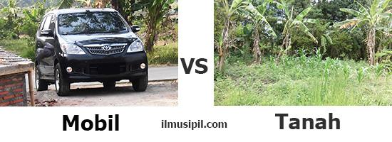 mobil vs tanah