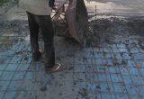 plastik lantai kerja cor beton