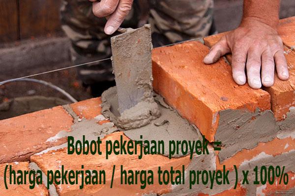 bobot pekerjaan proyek