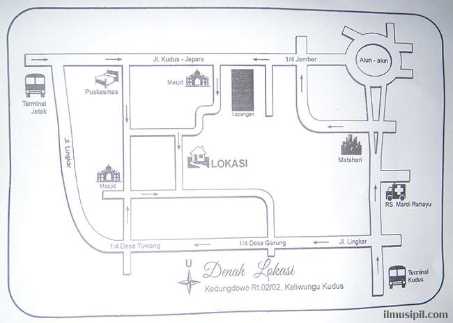 peta denah lokasi undangan pernikahan