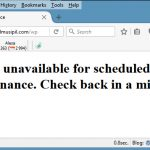Cara mengatasi Briefly unavailable for scheduled maintenance. Check back in a minute.