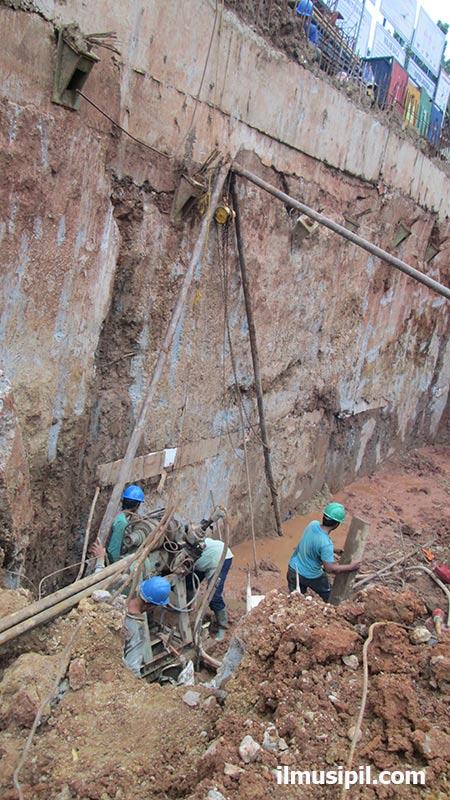 dinding galian tanah